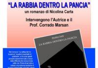 """Giovedì 23 novembre – Presentazione libro """"LA RABBIA DENTRO LA PANCIA"""""""