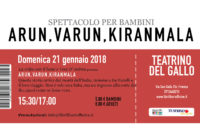 Domenica 21/01/2018 – Il pollaio dei balocchi: ARUN, VARUN, KIRAMANLA