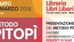 """Sabato 17/03/2018 – Presentazione libro """"Metodo Pitopì — Oltre l'apprendimento dei requisiti di base"""""""