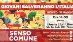 """Giovedì 31/05/2018 – Presentazione libro """"I giovani salveranno l'Italia"""""""