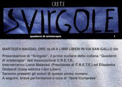 "Martedì 8/05/2018 – Presentazione quaderni di arteterapia ""Svirgole"""